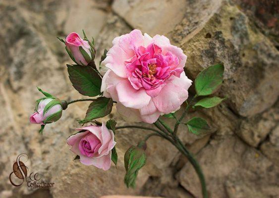 Кустовая роза из фоамирана мастер-класс